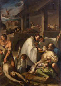 Der Heilige Aloysius von Gonzaga bei den Pestkranken © KHM Museumsverband