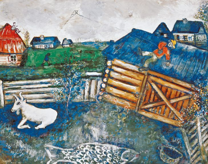 Marc Chagall Der Papierdrache 1926 © Bildrecht Wien 2021 ALBERTINA Wien Sammlung Batliner